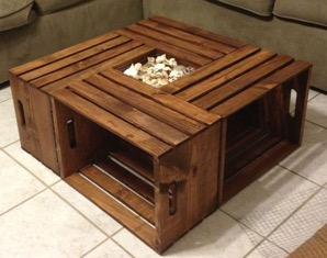 wood coffee table